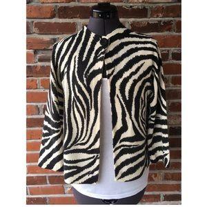 Ellen Tracy Cashmere Zebra Stripe Sweater